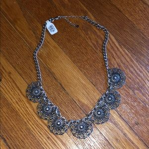 Silver/black chunky necklace